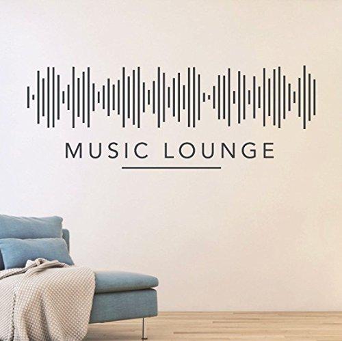 tjapalo® S-pkm102 Flur Deko Wandspruch Wandtattoo Wohnzimmer Wandtatoo Musik Lounge DJ Music Lounge Wandsticker (B 100cm x H 36cm)
