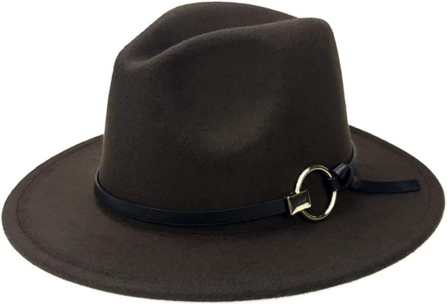 Europe Et Am/érique Style Automne Et Hiver Dames Panama Forme De Cloche Hommes Femme Chapeau Feutre Fedora Felt Trilby Hat avec Bord Large