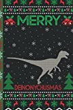 Ugly Deinonychus Christmas Composition Notebook: Deinonychus Lover Xmas Lighting Ugly Style Christmas Pajama Journals - Christmas Decoration Journal Notebook For Men, Women, Girls, Kids