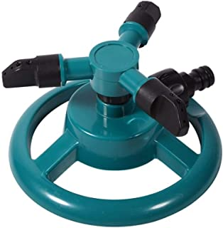 CRZD Garden Sprinkler 360 Degrees Rotating Watering System Sprinkler Irrigation 3 Nozzle Pipe Hose For Gardening Tools And...