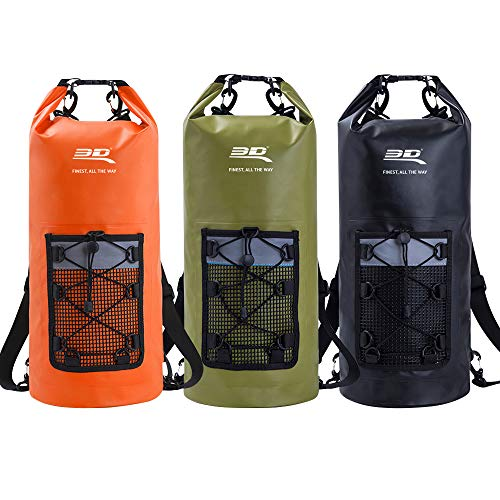 3D ROLL-TOP DRY BAG BACKPACK BLACK