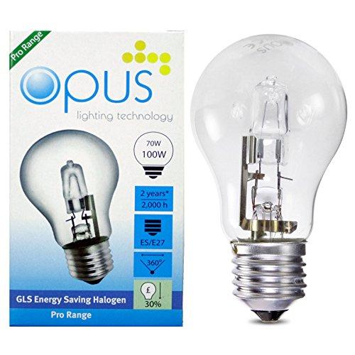 5 x GLS Halogenlampen 70W = 100W ES E27 Schraubensockel
