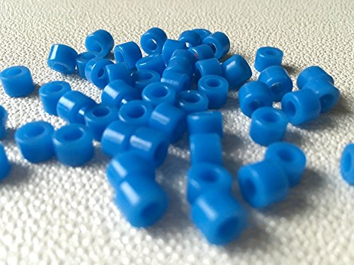 50 Pcs Small Type Dental Hygienist Silicone Instrument Color Code Rings Blue