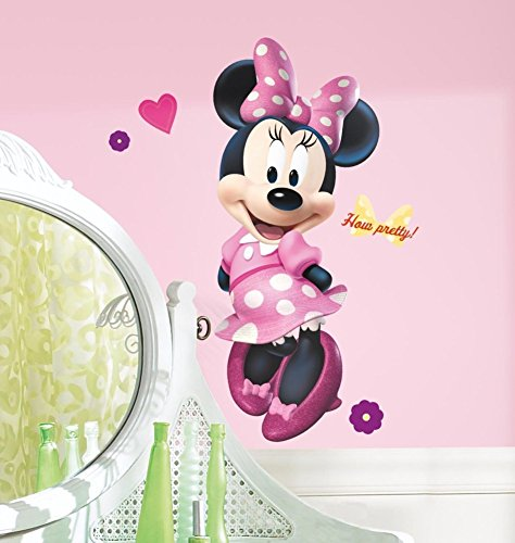 Minnie Mouse Bow-tique 101,6 cm mural géant Autocollant Boutique Disney Stickers de décoration de chambre