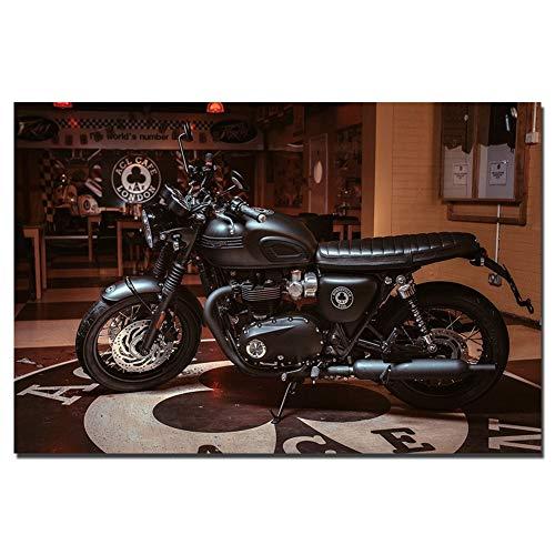 Pittura Triumph Olio Super Moto Wall Art Poster su Tela del Panno del Tessuto Stampa for Dipinti Home Decor Canvas WWJYB0386 di Alta qualità (Size (inch) : 32x48inch)