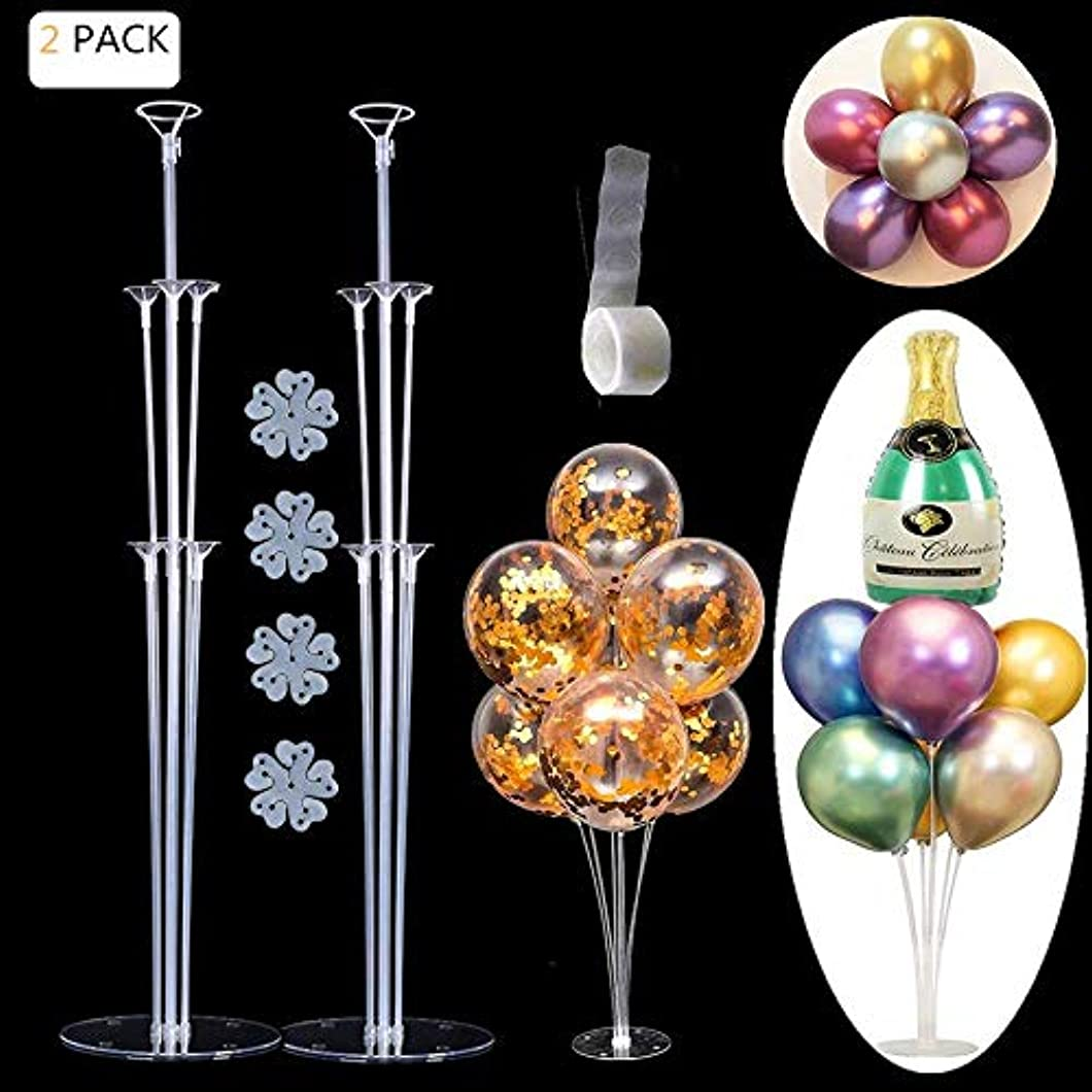 EFAY Balloon Sticks Large Balloon Stand Kit Suit for Mylar and Latex Balloons, Reusable Table Centerpieces Top Decoration for Baby Showers, Birthday, Wedding Party Decoration- (2 Pack) lhugaiw44