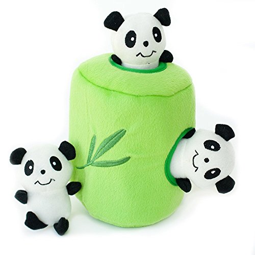 ZippyPaws Panda and Bamboo Interactive Dog Toy