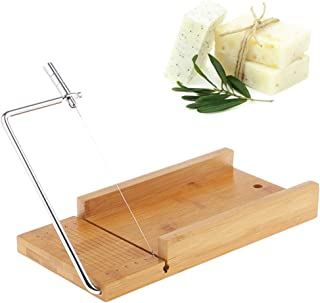 VolksRose Bamboo Soap Cutter Mold, Beveler Planer Wire Slicer for Handmade Candles Trimming Cheese DIY Cutting Making Tool...