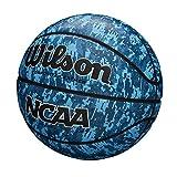 Wilson WTB07320XB06 Balón de Baloncesto, Ncaa Performance Camo, Tamaño 6, Cuero Compuesto, Azul