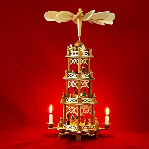 Wichtelstube-Kollektion XXL Weihnachtspyramide Die heilligen 3 Könige Original 4 Etagen