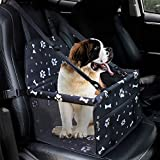 HIPPIH Dog Car Seats for Small Dogs, Collapsible Pet Booster Car Seat for Vehicles, Waterproof Puppy Car Seat Suitable for Medium Pets Under 11 lb, Upgraded