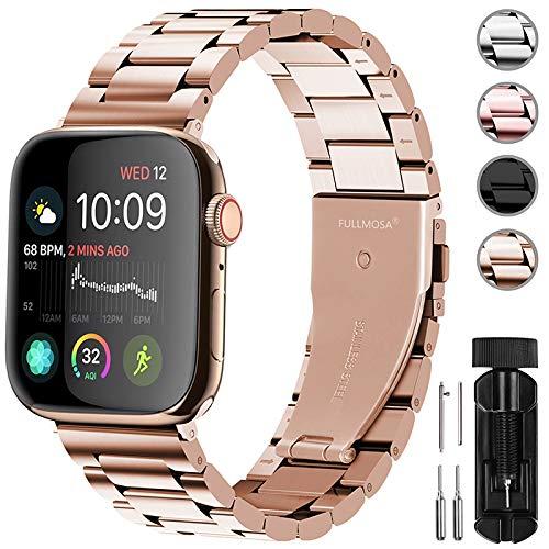 Fullmosa Für Apple Watch Armband 40mm/38mm, Rostfreier Edelstahl Ersatzband für iWatch/Apple Watch Serie 4/3/2/1, 40/38mm Gold