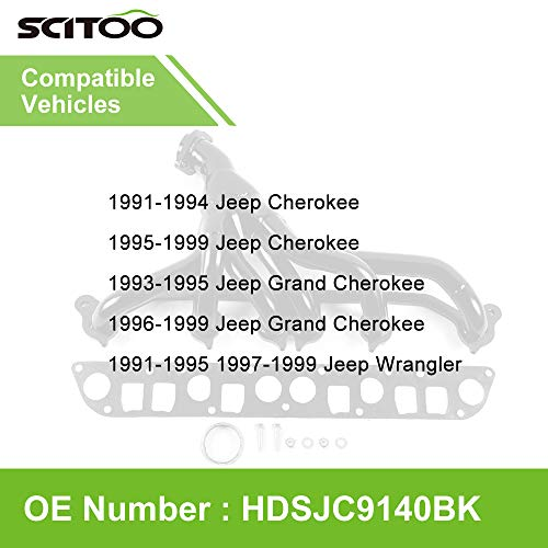 SCITOO Auto Replacement Exhaust Manifold Kits, Front Header Exhaust Manifold Set Stainless Steel for
