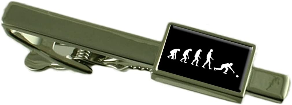 Select Gifts Evolution Ape to Man Bowling Tie Clip Pouch