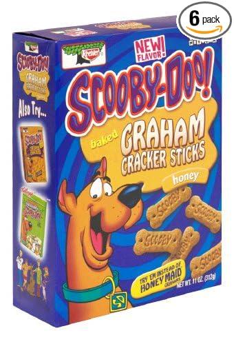 Keebler Baked Graham Cracker Sticks, Scooby-Doo!, Honey, 11-Ounce Boxes (Pack of 6)