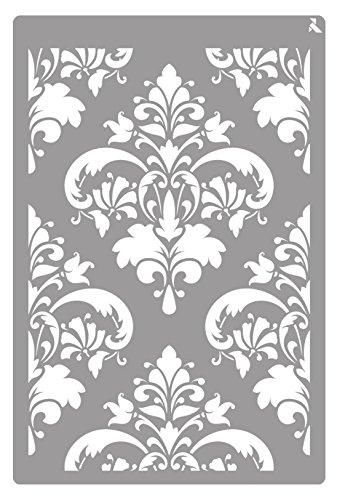 Schablone ST-18 Damast 20 x 30 cm La Fajarita Spezial für Kreidefarbe und Stoffmalerei
