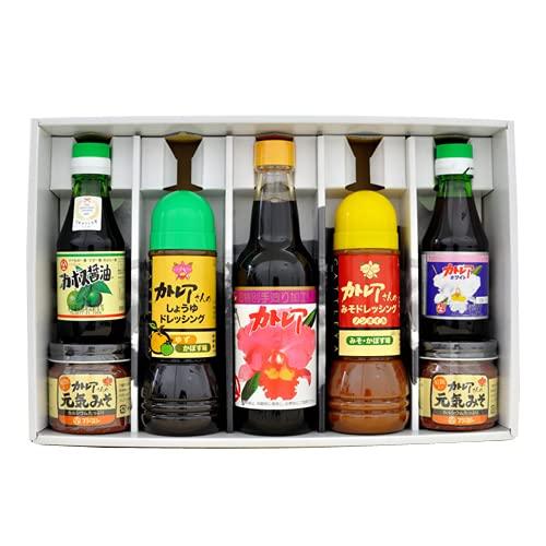 フジヨシ醤油 フジヨシ ギフトセットB (カトレア、カトレアホワイト、しょうゆドレッシング、みそかぼすドレッシング、カボス醤油、元気みそ×2)