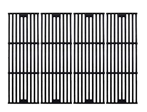 GasSaf 19 3/4 inch Grill Grid Grates Replacement for Chargriller 5050, 3001, 3008, 3030, 4000, 2121, King Griller 3008 5252, Cast Iron Grill Cooking Grid Grates(19-3/4'' x 6-3/4'' Each)(4-Pack)