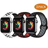 Bravely klimbing Compatible with App le Watch Band 44mm 42mm, Soft Silicone iWatch Bands Replacement Sport Bands for iWatchSeries 5 4 3 2 1 for Men and Women M/L 3 Pack B