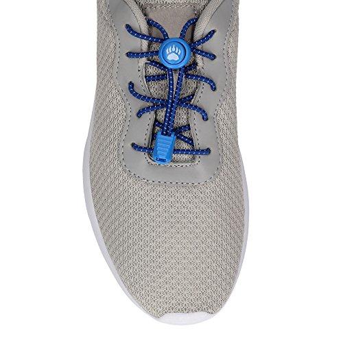 Bearformance Schnürsenkel mit Schnellverschluß Elastische Sportschnürsenkel - Schnellschnürsystem schleifenlos ohne binden (Blau)