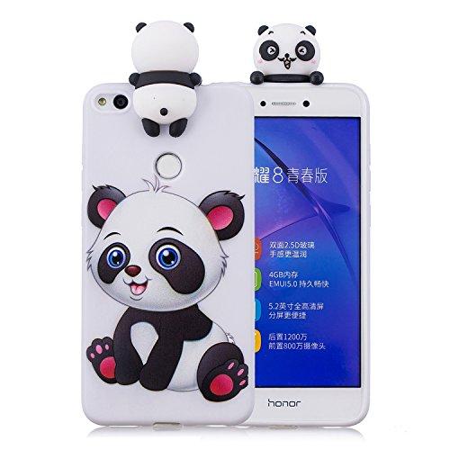 Keteen Cover per Huawei P8 Lite 2017 Custodia, Moda 3D Carino Animale TPU Silicone Bumper Flessibile Morbido Anti Graffio Protettiva Case Anti Scivolo Magro Cover per Huawei P8 Lite 2017 - Un Panda