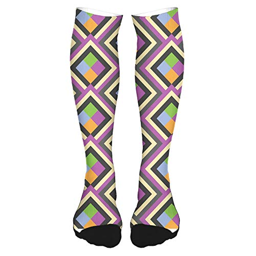 Calcetines altos de algodón sobre la rodilla, para hombre y mujer