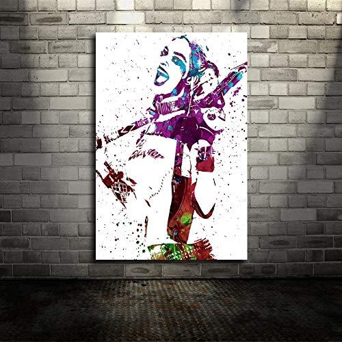 wopiaol Kein Rahmen Kader Harley Quinn Margot DC Film Leinwand Poster Wandkunst Druck Kinder Dekor Wohnkultur