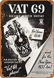 Letrero metálico de 20 x 30 cm con diseño de whisky escocés de 1936 Vat 69