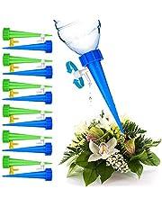 Marooma Automatische sproeiers voor planten met regelklep schakelaar, automatische irrigatie druppelaars voor exterieur en interieur 12 Pack