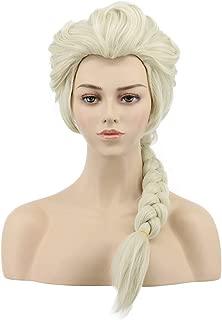 VGbeaty Adult Women Long Braided Wig Halloween Cosplay Party Costume Wig (Beige)