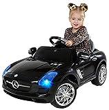 Actionbikes Motors Kinder Elektroauto Mercedes Benz AMG SLS - Lizenziert - Rc 2,4 Ghz Fernbedienung - Led - Mp3 - Soundmodul - Elektro Auto für Kinder ab 3 Jahre - Kinderauto Spielzeug (SLS Schwarz)