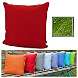 fashion and joy Lotus 5551 Outdoor cushion resistant to weathering and dirt and water 45 x 45 cm Waterproof structure Garden cushion