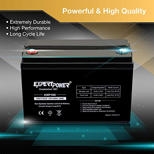 ExpertPower Deep Cycle Sealed Lead Acid Battery for AGM