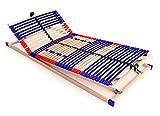 Schlummerparadies Stabiler Lattenrost 100% BUCHE - Kopf- und Fußteil verstellbar - SCHULTERFRÄSUNG, 7 Zonen, 42 Federleisten, Härteregulierung, Mittelgurt - Vario Plus Sleep 42 unmontiert...