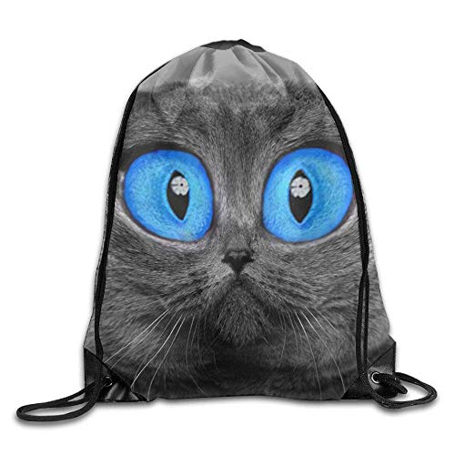 Michael Staton Alle sind Sich einig, Kordelzug Taschen Sporttasche Reiserucksack, süße lustige Katze Blaue Augen, Sportgeräte Taschen für Teen Kids