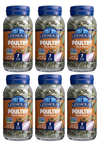 Litehouse Freeze Dried Poultry Herb Blend, 0.46 Ounce, 6-Pack