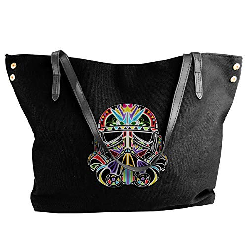Sugar Stormtrooper Day Of The Clone Fashion Ladies Top Handle Bags Tote Shoulder Handbags for Women Expandable Grocery Tote Bags