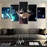 Canvas Prints Japanese Roles 5 Set Anime Poster Home Decor My Hero Academia Painting Wall Art Picture Modular Living Room Frame