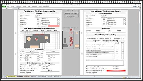 Wartung für Rauchmelder / CO Melder jährliche Prüfung Prüflisten Prüfprotokolle erstellen. DIN 14676 Rauchwarnmelder Brandmelder Brandwarnmelder jährlich prüfen. für Hausverwalter