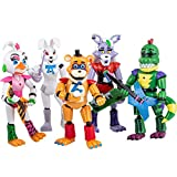 Featured by Five Nights at Freddys   Security Breach PizzaPlex   FNAF Action Figures Toy Set of 5 PCS   Toy Dolls for All Kids   Toys Gifts   6 inches