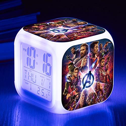 HHKX100822 Student Kinder Wecker Led 7 Farbe Digitale Kleine Wecker Kreatives Geschenk Elektronische Uhr B