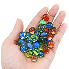 ☛ INCLUDES: More than 20Pcs of Cats Eyes Glass Marbles, each Cat's Eyes Marbles is 0.62 inch in diameter.These Bulk Toys are durable,non-toxic and meet the standards of CPSIA .Passed the CPC safety certification, please be feel free to use. The certi...