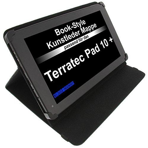 foto-kontor Tasche für Terratec Pad 10 Plus BookStyle Tablettasche Schutz Hülle Schwarz