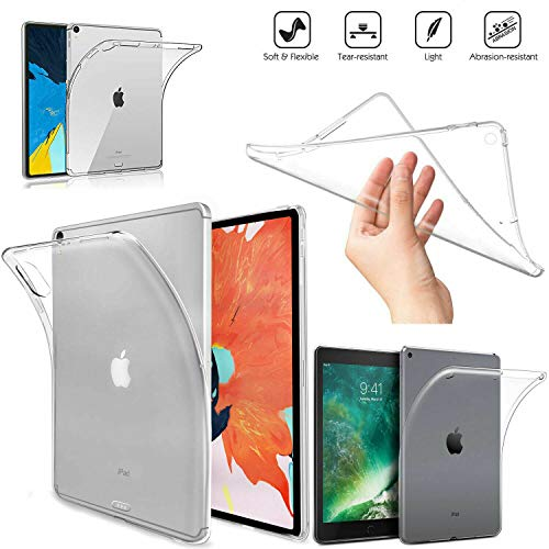 COMFORTOS-Gel Silicone Back Case Protector fit New iPad 7th Generation 10.2' 2019, Shockproof Impact Resistant Flexible Soft Transparent Clear TPU Protective Shell Fit iPad 10.2-inch - Clear