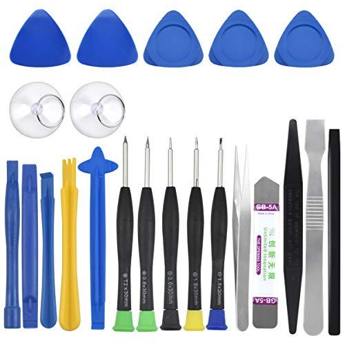Destornillador Precision, 22 en 1 Herramienta de Reparación de Teléfonos Móviles para iPhone, Kit de Reparacion Desmontar Herramientas Moviles, Profesional Destornilladores para Laptops, Gafas, PC