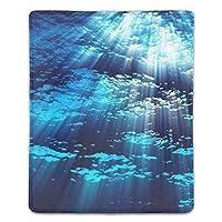 マウスパッド 防水 耐久性が良い 滑り止めゴム底 滑りやすい表面 マウスの精密度を上がる 青い水中ライトウォーターサンビームマリン