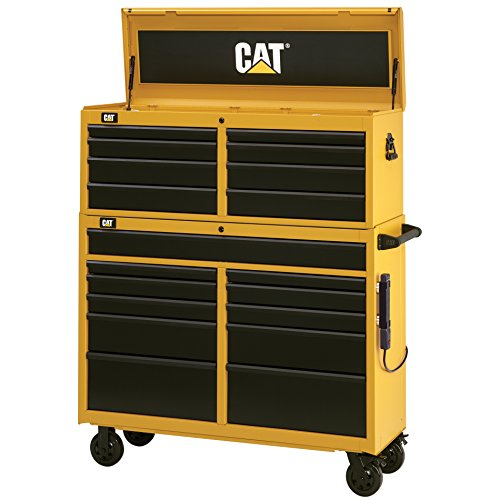 Cat 19-Drawer Ball-Bearing Tool Chest and Cabinet Combination, 52' W - Designed, Engineered and...