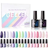 Gellen 16 Colors Gel Nail Polish Kit - With Top...