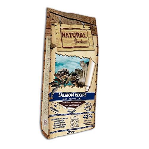 Pienso Natural de SALMÓN Sin Cereales Hipoalergénico Saco de 12 Kg   ANIMALUJOS