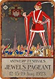 Snowae 1923 Jewels Pageant Antwerpen Metall Poster Wand